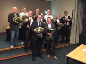 Jan met fractie en bestuur bij de laatste Regiovergadering. Jan is erg te spreken over de ontwikkeling van D66 in Limburg.
