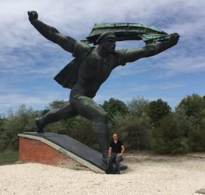 Hans op vakantie in Boedapest, afgelopen zomer. Naast sporten is ook reizen een hobby van hem.